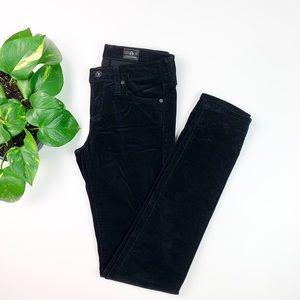 AG The Leggings Black Velvet Pants Super Skinny